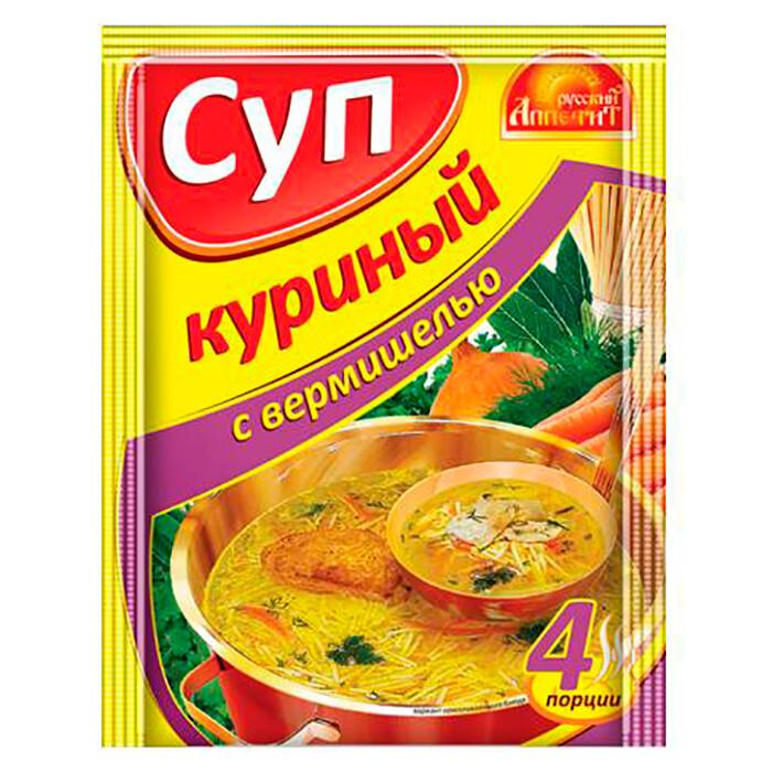 Суп Куриный с вермишелью 60г Русский аппетит
