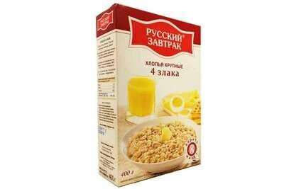 Хлопья 4 злака 400г Русский завтрак