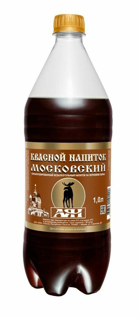 Газированная вода АЯН 1л Квас Московский