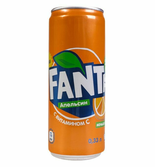 Газированная вода Фанта 0,33л ж/б