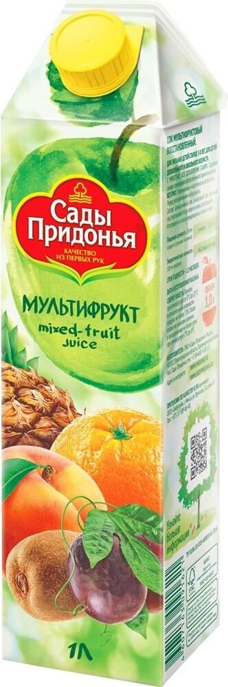 Сок Сады Придонья 1л Мультифрукт с мякотью