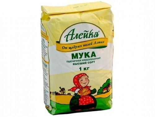 Мука Алейка в/с 1кг пшеничная