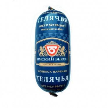 Колбаса Телячья 400г Омский бекон