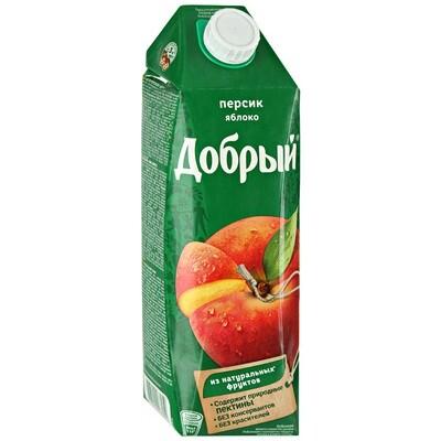 Нектар Добрый 1л Персик-яблоко
