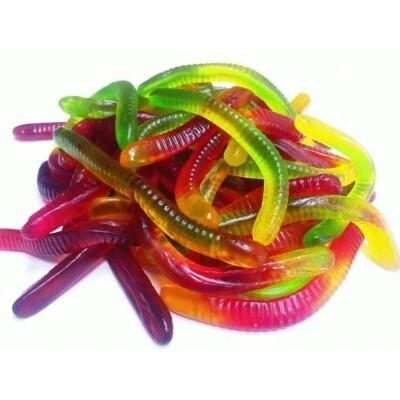 """Мармелад жевательный """"джу-джу-джув"""" разноцветные червячки длинные 1 кг"""