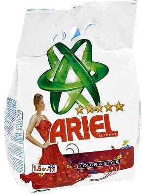 Стиральный порошок Ariel 1,5кг автомат Color & Style