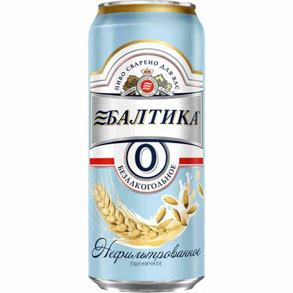 Пиво Балтика №0 безалкогольное Пшеничное 0.45л. ж/б