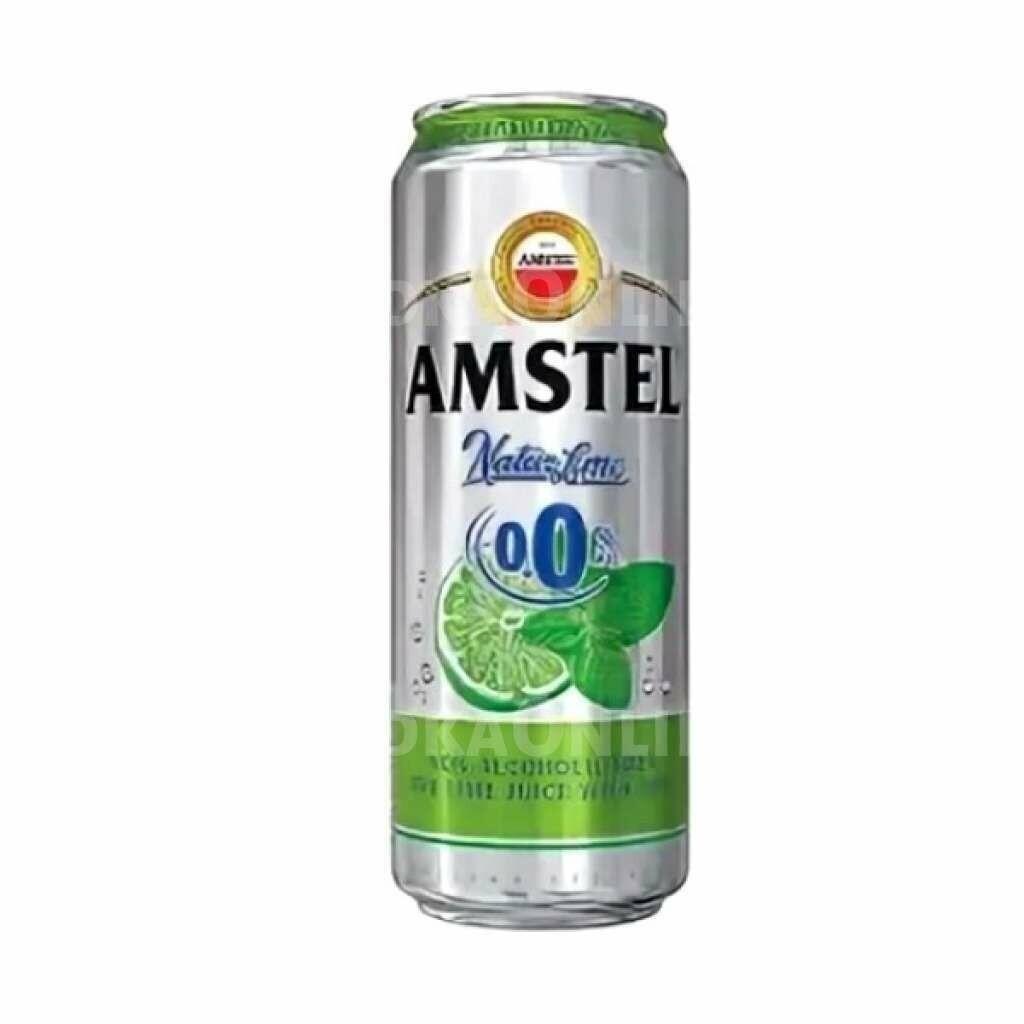 Пиво Амстел со вкусами в ассортименте безалкогольное 0,43