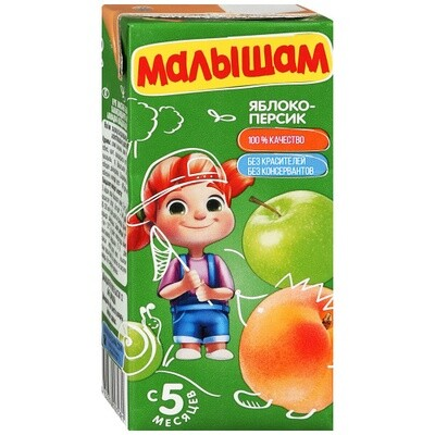 Нектар Малышам 0,33л  Яблоко-персик
