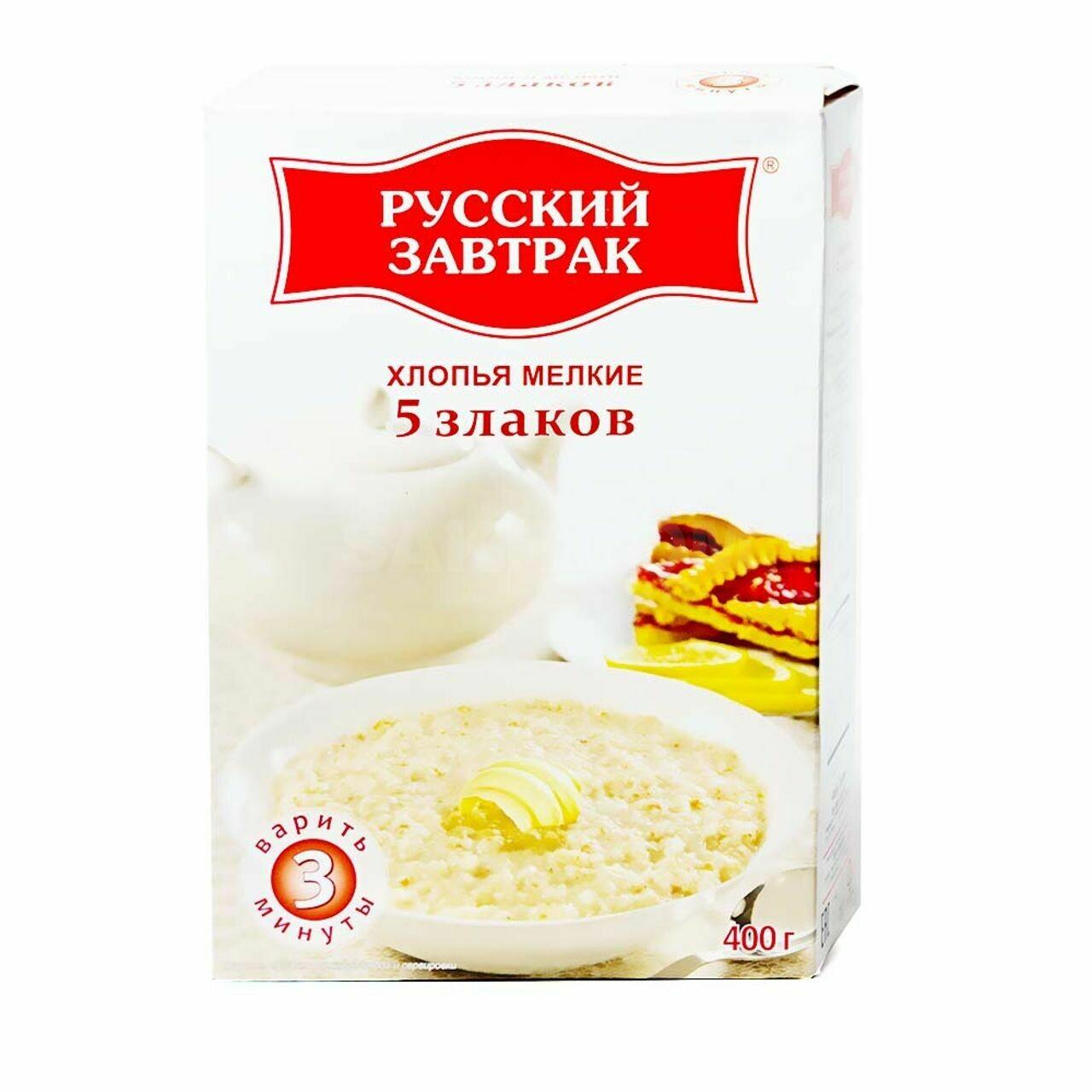 Хлопья 5 злаков 400г Русский завтрак