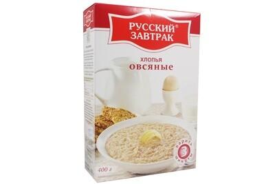Хлопья овсяные 400г экстра Русский завтрак
