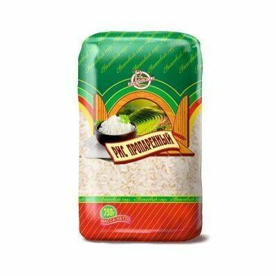 Рис пропаренный длиннозерный 0.75кг Вишневый сад