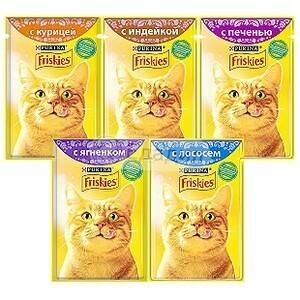 Фрискис для кошек 85г в ассортименте