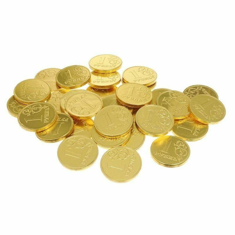Шоколадные монеты 1 шт