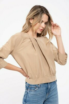 Taupe Woven Top