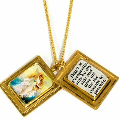 True Prayer Angel of prosperity charm necklace