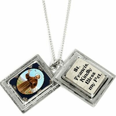 True Prayer St Francis charm necklace