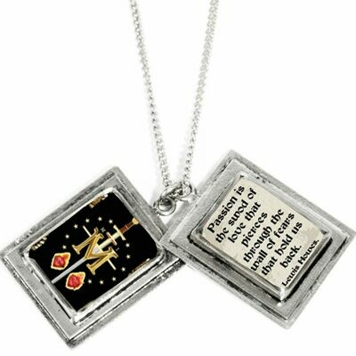 True Prayer Passion is the sword charm necklace
