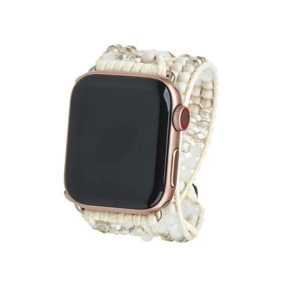 Silver Dorado Miyuki Beads Apple Watch Strap