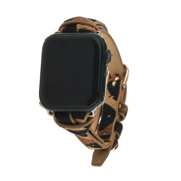 Safari Apple Watch Strap on Gold