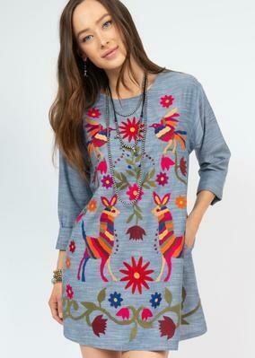 Lama & Bird Dress