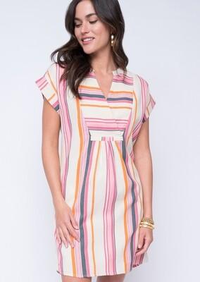 Easy striped Shift Dress