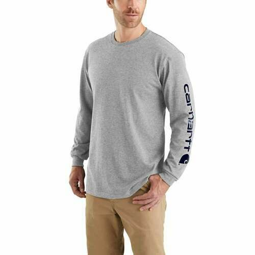 CARHARTT WORKWEAR LONG-SLEEVE GRAPHIC LOGO T-SHIRT