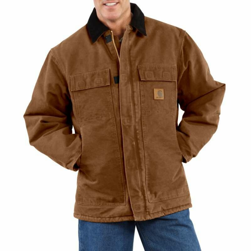 CARHARTT SANDSTONE TRADITIONAL COAT / ARCTIC QUILT LINED