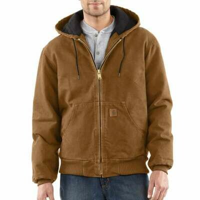 CARHARTT SANDSTONE QUILTED FLANNEL-LINED ACTIVE JAC