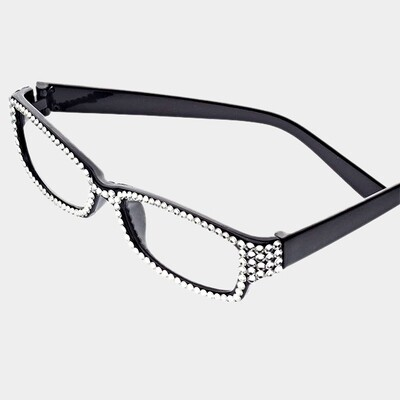 Clear Crystal Pave Rectangular Readers