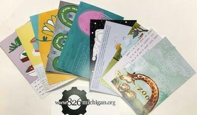 826michigan Student Writing Postcard 10-Pack
