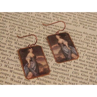 Madame De La Sabliere Science Earrings