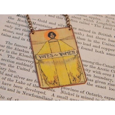 Votes for Women Art Feminist Necklace