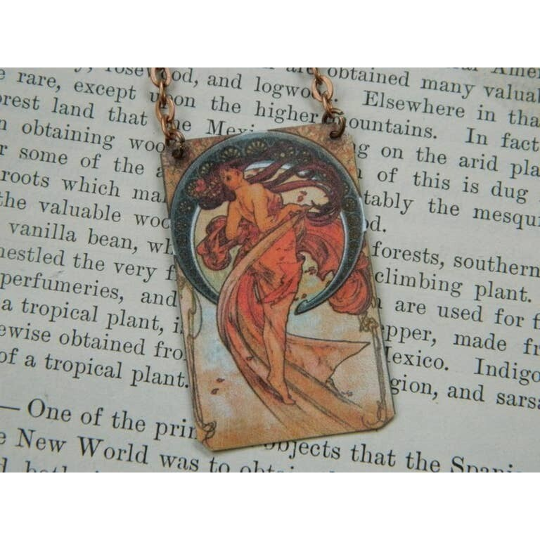 Necklace Mucha The Arts Series Music