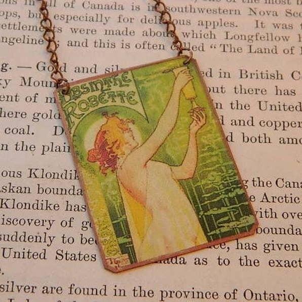 Necklace Mucha Absinthe
