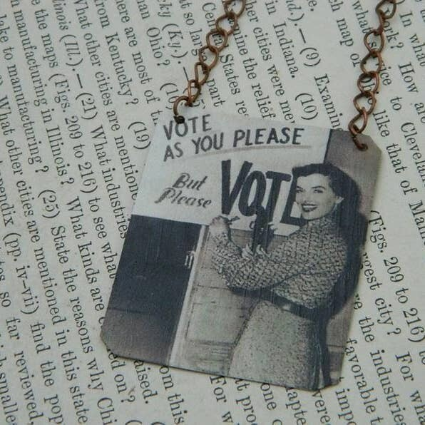 Necklace Vote as You Please but Please Vote!