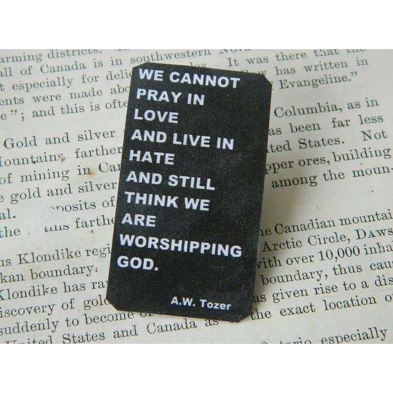 Anti-Hate Lapel Pin We Cannot Pray in Love and Live in Hate