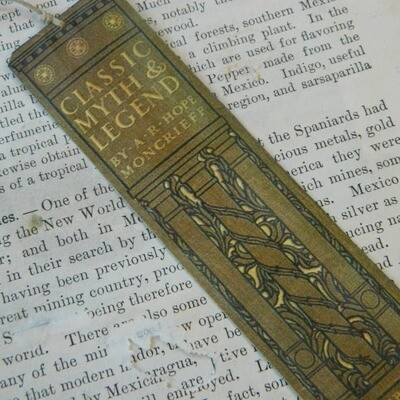Bookmark Classic Myth and Legend Antique Book Spine
