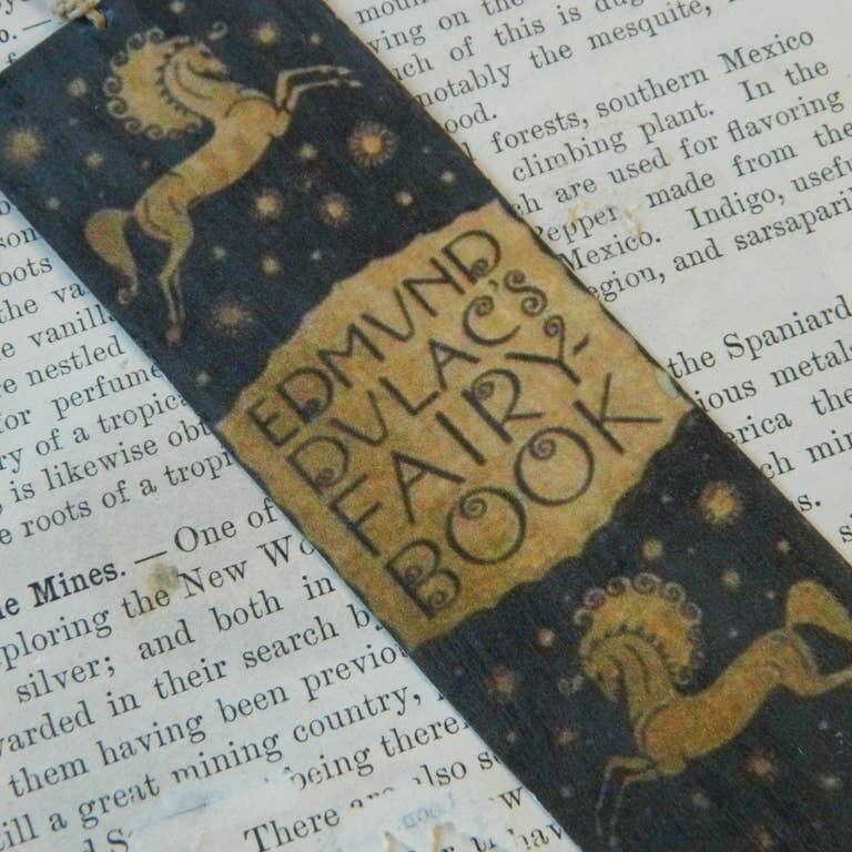 Bookmark Edmund Dulac's Fairy Book Antique Book Spine