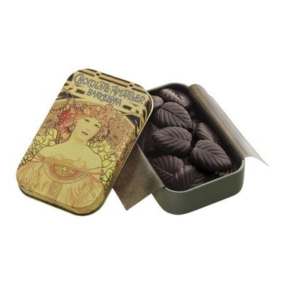 30g Dark Chocolate Leaves 70% in a Collectable Gift Tin