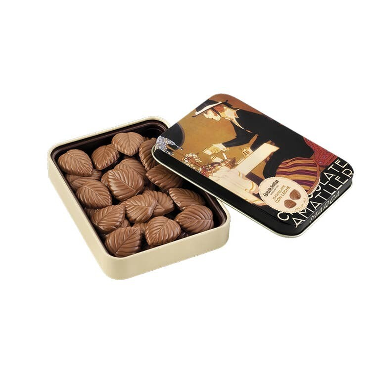 60g Milk Chocolate Leaves in a Collectable Gift Tin