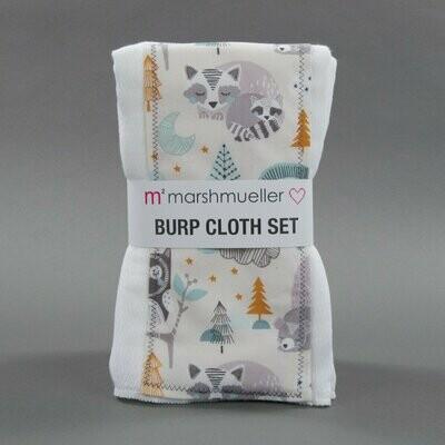 Forest Slumber Burp Cloth Set