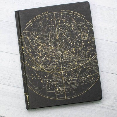 Astronomy Star Chart Hardcover w/ Lined/Grid