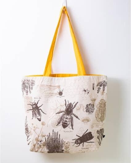 Honey Bee Canvas Shoulder Tote