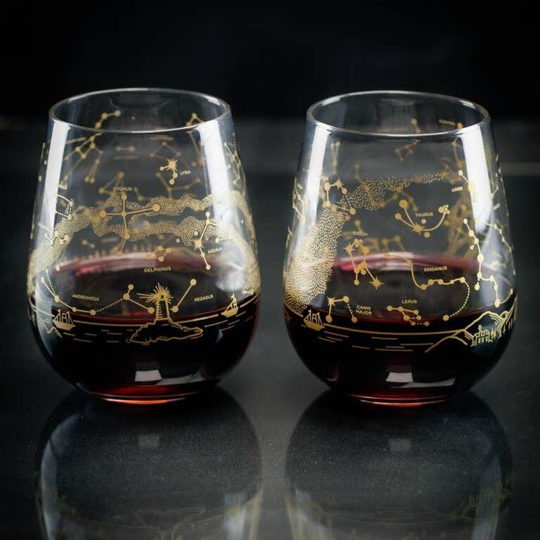 Northern Hemisphere Night Sky Wine Glasses (Pair)