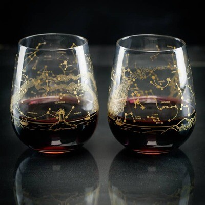 Northern Hemisphere Night Sky Wine Glasses (Pair)