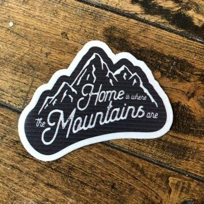 Home is Where the Mountains AreAdventure Sticker Series
