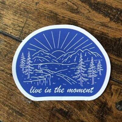 Live in the Moment -Adventure Sticker Series
