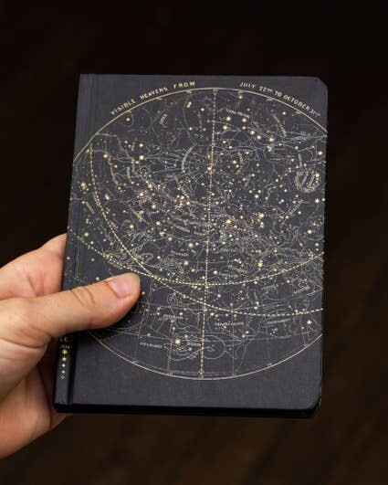 Astronomy Star Chart Mini Hardcover with Dot Grid