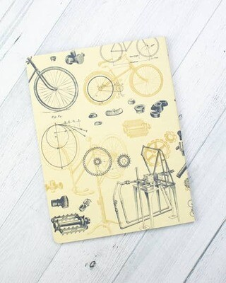 Bicycle Science Softcover Notebook Lined